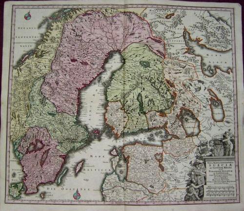 SOLD Nova Mappa Geographica Sueciae ac Gothiae Regna