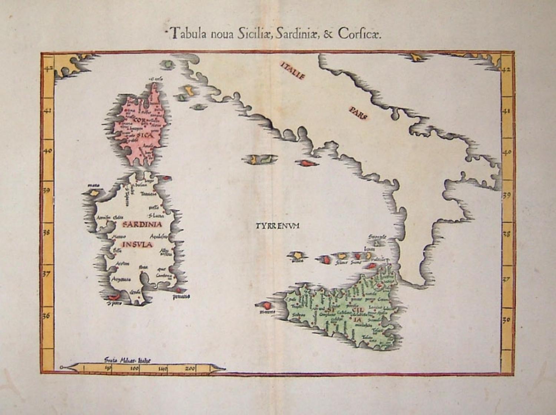 SOLD Tabula Noua Sicily, Sardiniae, & Corficae