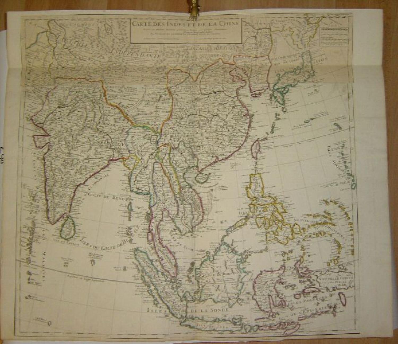 SOLD Carte Des Indes Et De La Chine