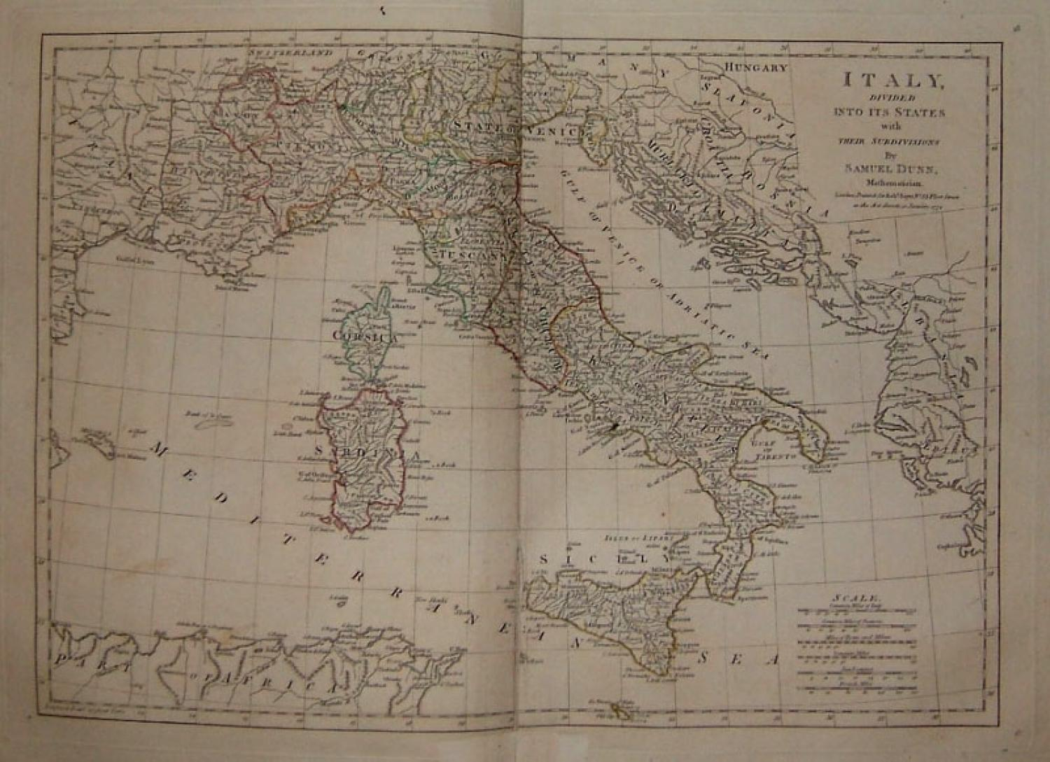 SOLD Italy, Divided Into Its States