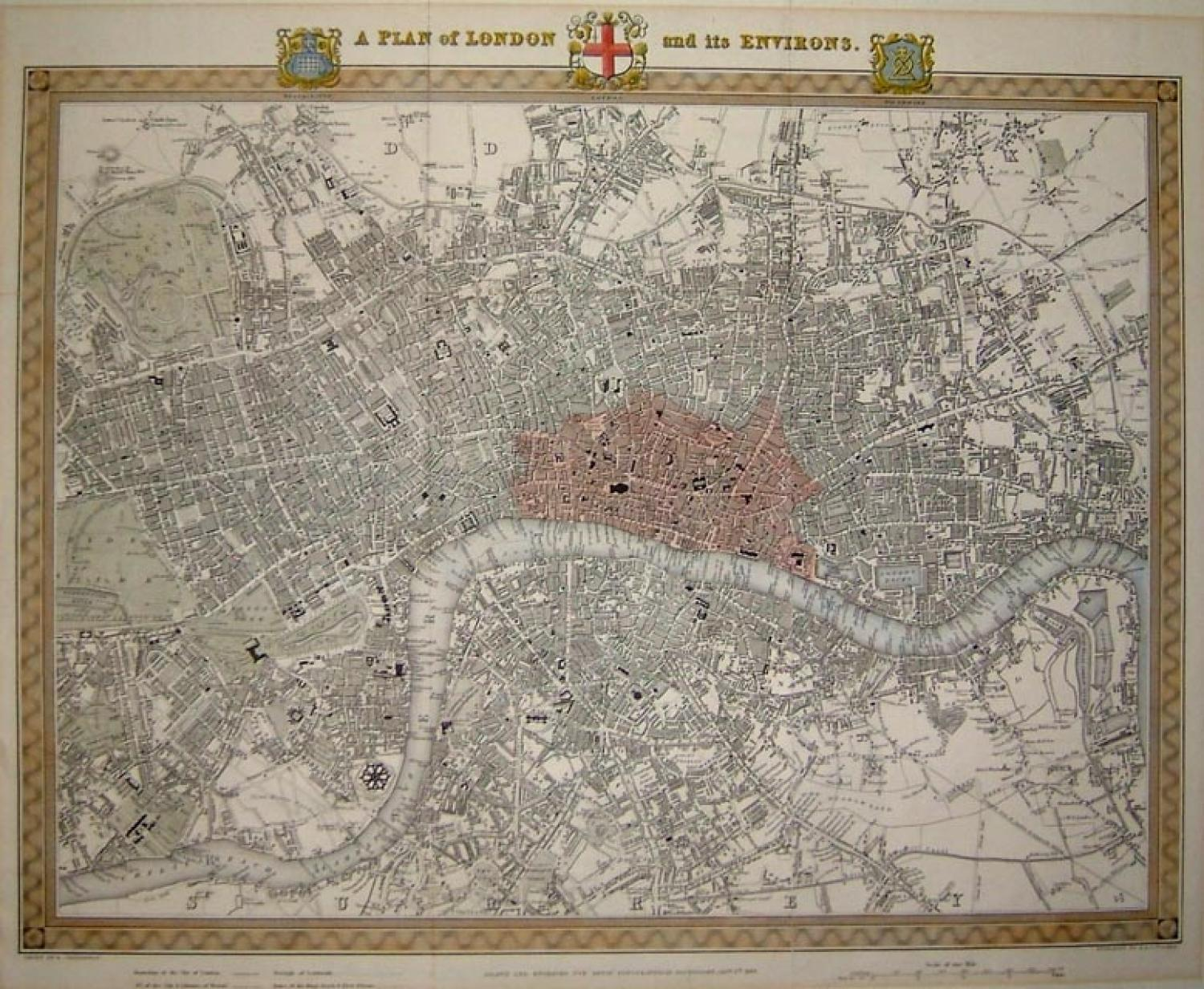 SOLD A Plan of London and its Environs
