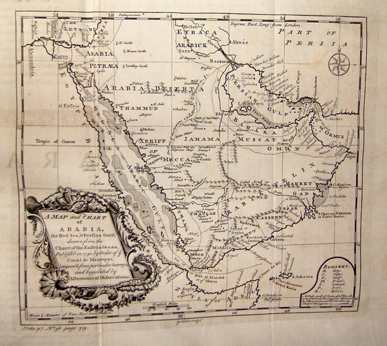 SOLD A Map and Chart Of Arabia