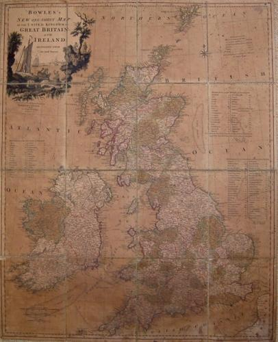 SOLD New One-Sheet Map of The United Kingdom of Great-Britain...