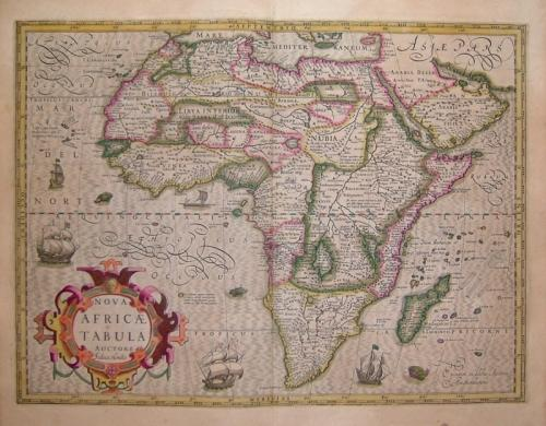 SOLD Nova Africae Tabula, Auctore Jodoco Hondio