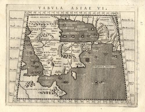 SOLD Tabula Asiae VI