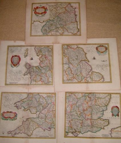 SOLD (Set of 5) English Regions