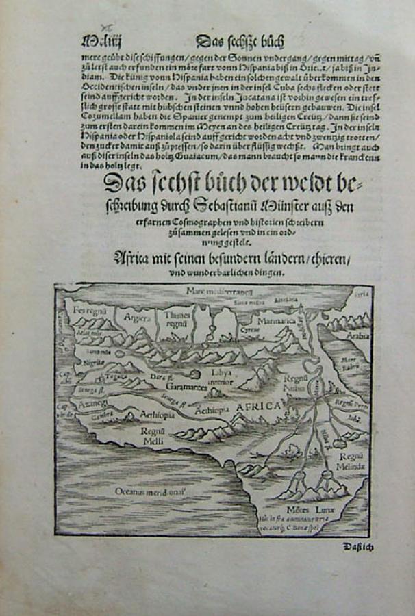 Munster - Africa text leaf