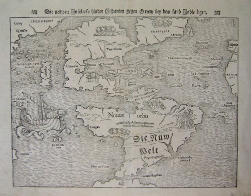 SOLD Die neuwen Inseln, so hinderhispanien gegen Orient ben dem Land Indie ligen