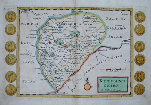 RUTLANDSHIRE by H Moll Geographer