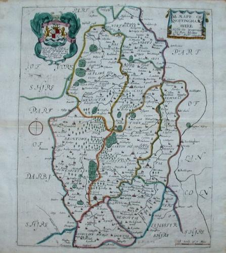 Blome - A MAPP OF NOTTINGHAMSHIRE