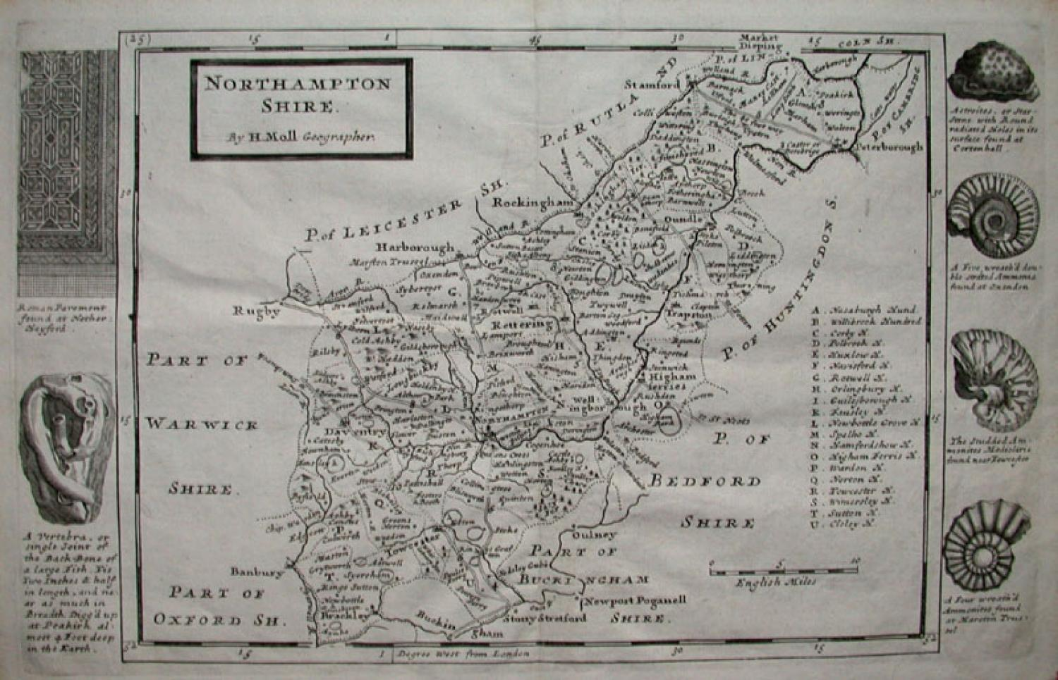 NORTHAMPTONSHIRE by H MOLL Geographer