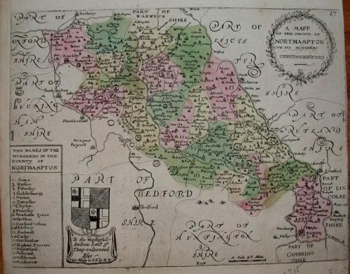 SOLD A MAPP of the County of NORTHAMPTON from its Hundreds