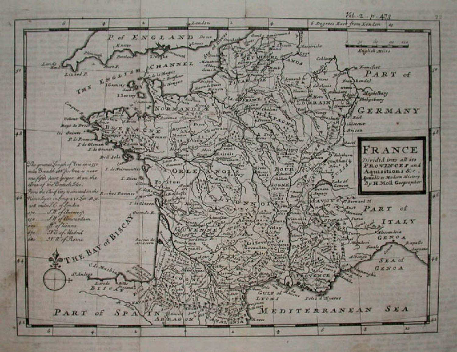 SOLD FRANCE Divided into all its PROVINCES and Aquisitions