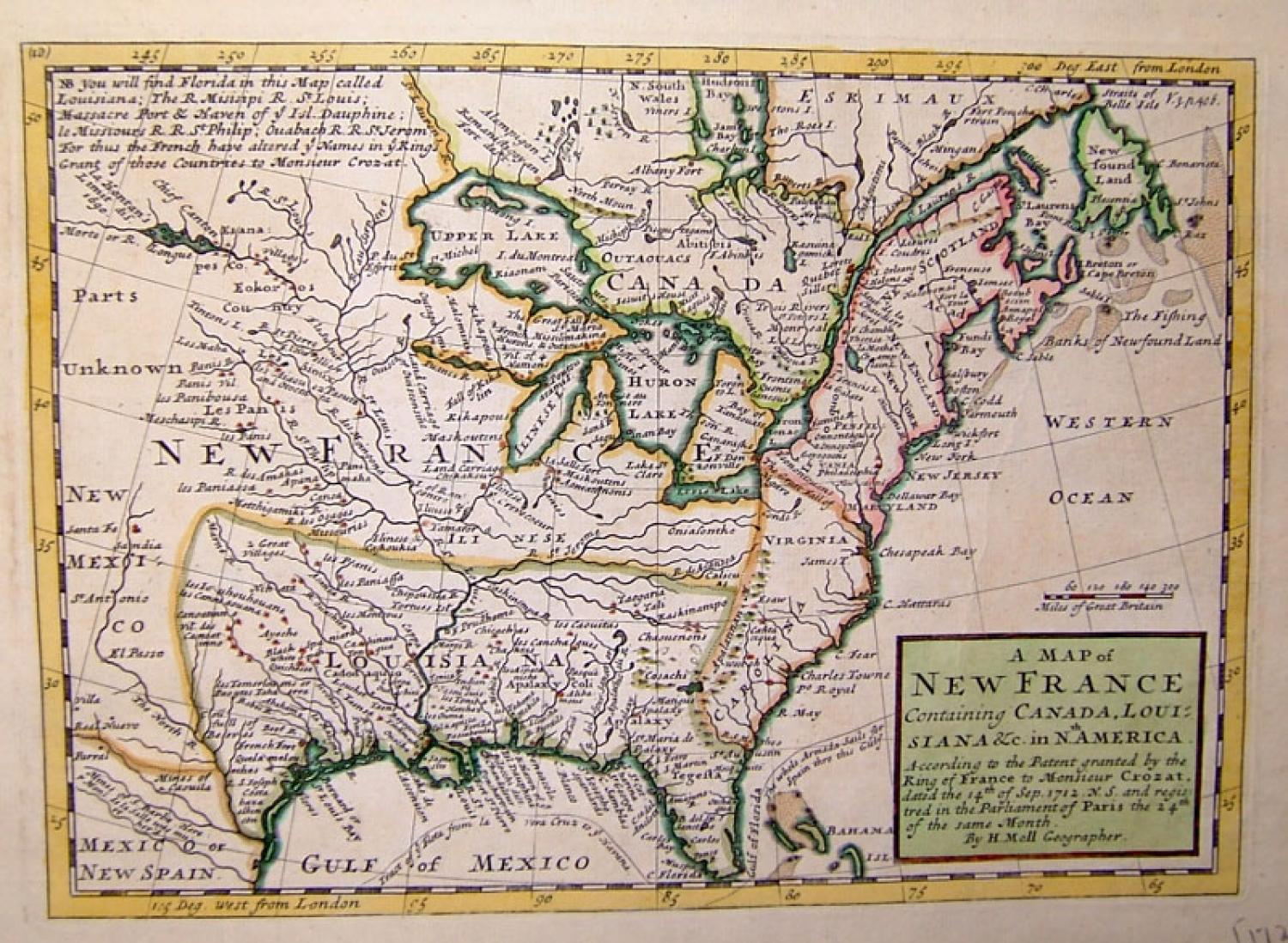 SOLD A map of New France....