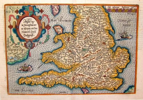 SOLD Angliae regni florentissimi noua descriptio, auctore Humeredo Lhuyd Denbygiense