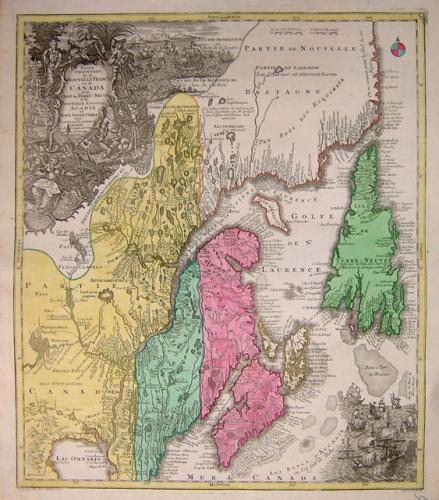 SOLD Partie orientale de la Nouvelle France ou du Canada