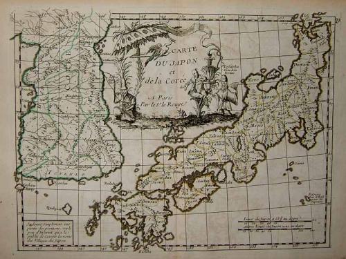Le Rouge - Carte Du Japon et de la Coree