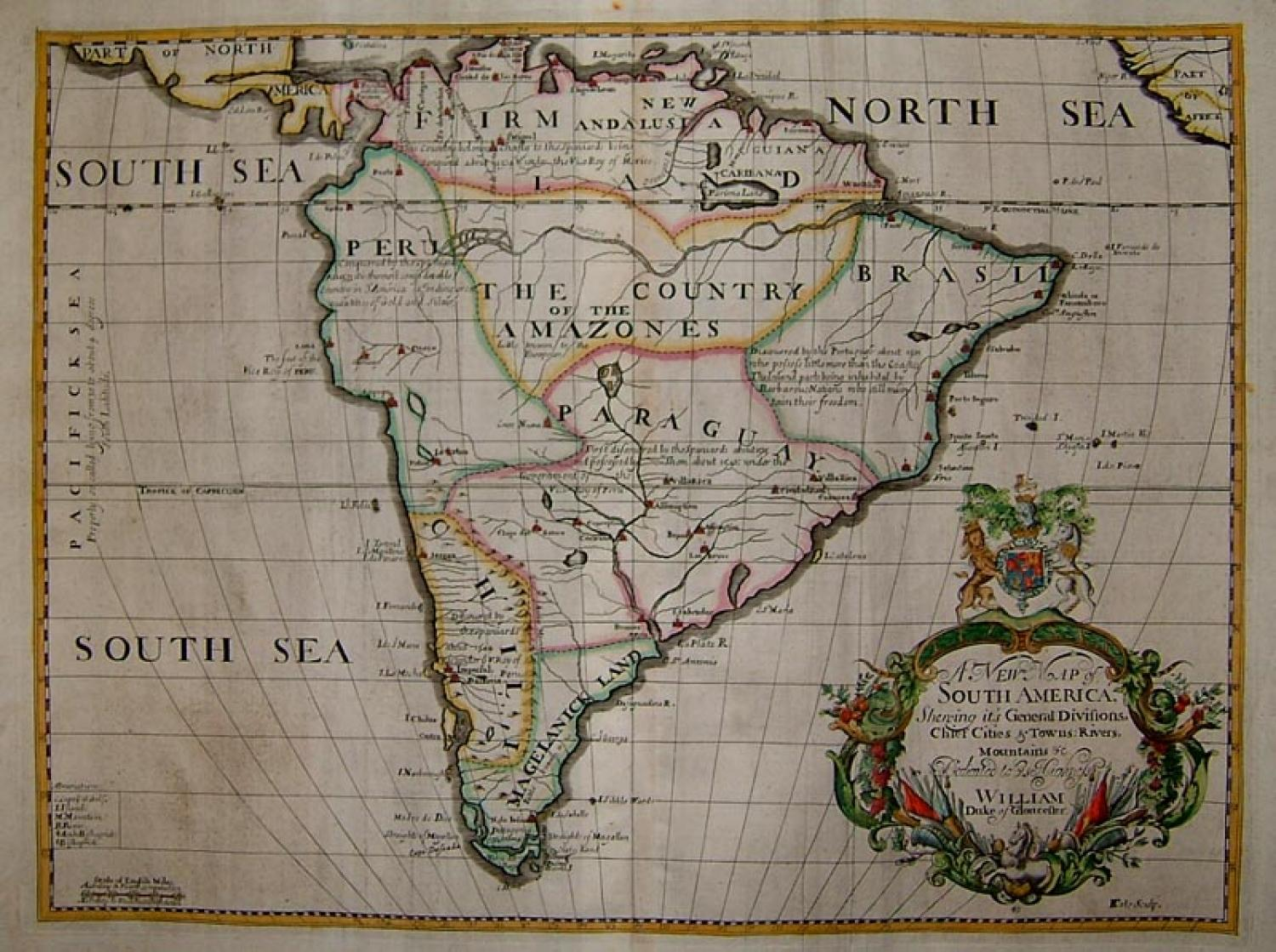 SOLD A New Map of South America