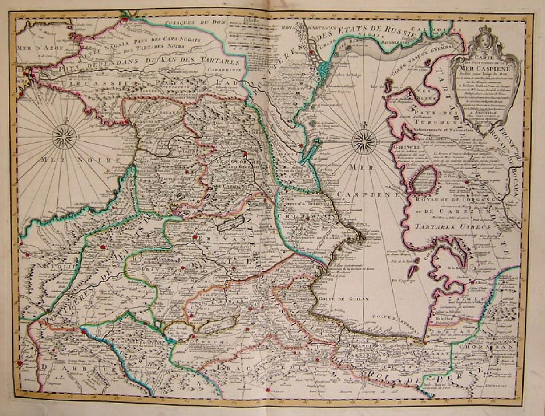 SOLD Carte des Pays Voisins de la Mer Caspiene Dresse pour l'Usage du Roy