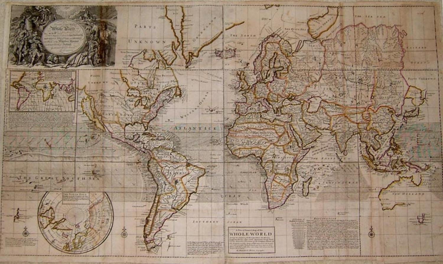 SOLD A New and Correct map of ye Whole World