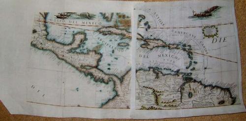 Coronelli - Caribbean Globe gores