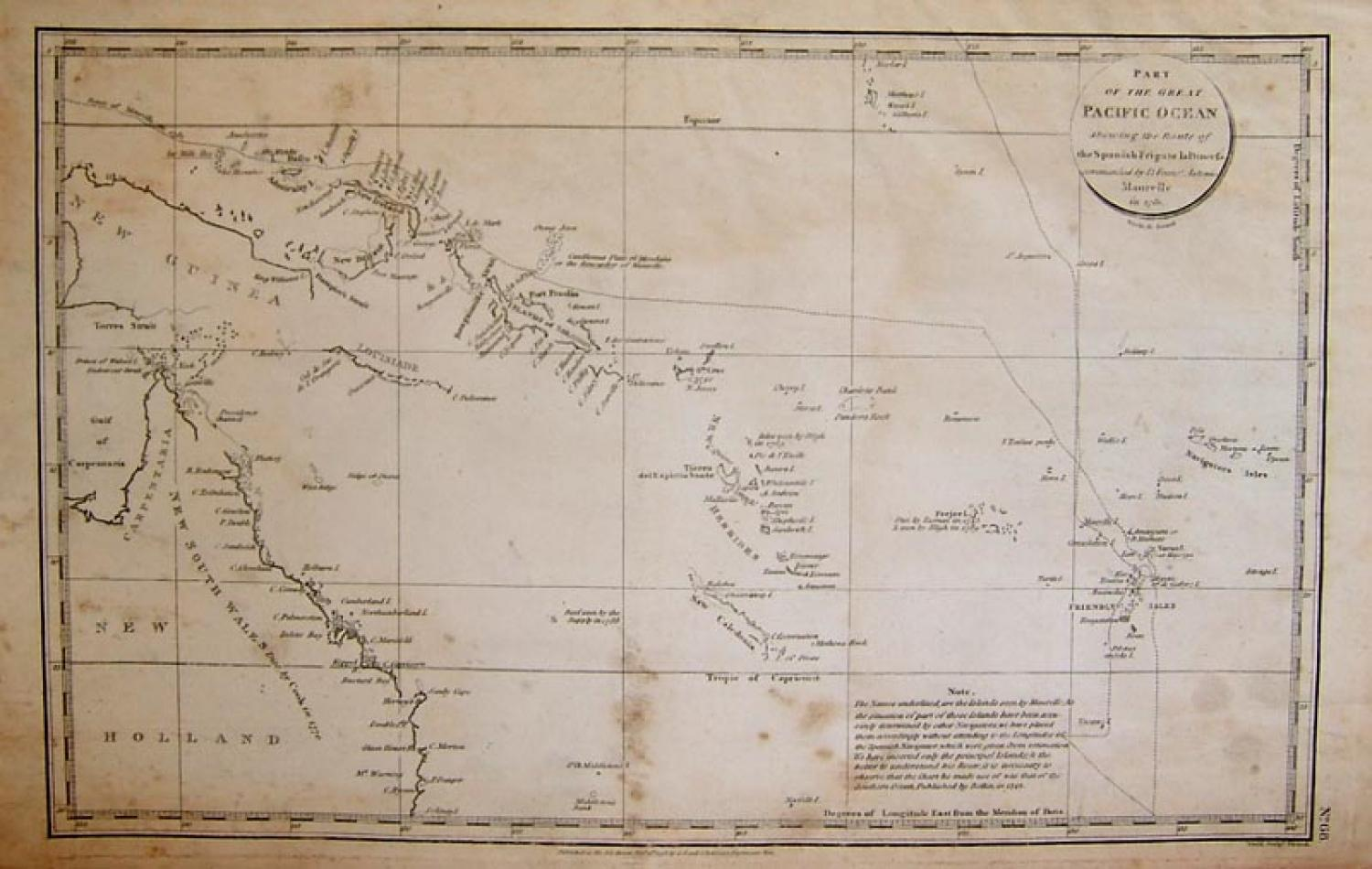 La Perouse - Chart Of The Great Pacific Ocean