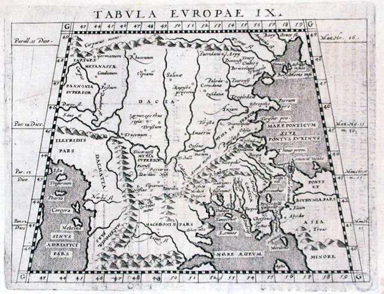 SOLD Tabula Europae IX