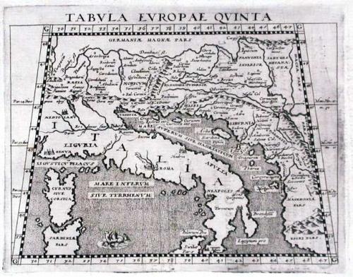 SOLD Tabula Europae Quinta