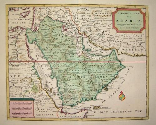 SOLD Nieuwe Kaart van Arabia