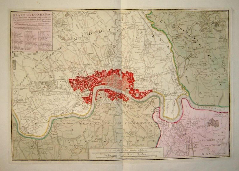 SOLD Karte von Londen