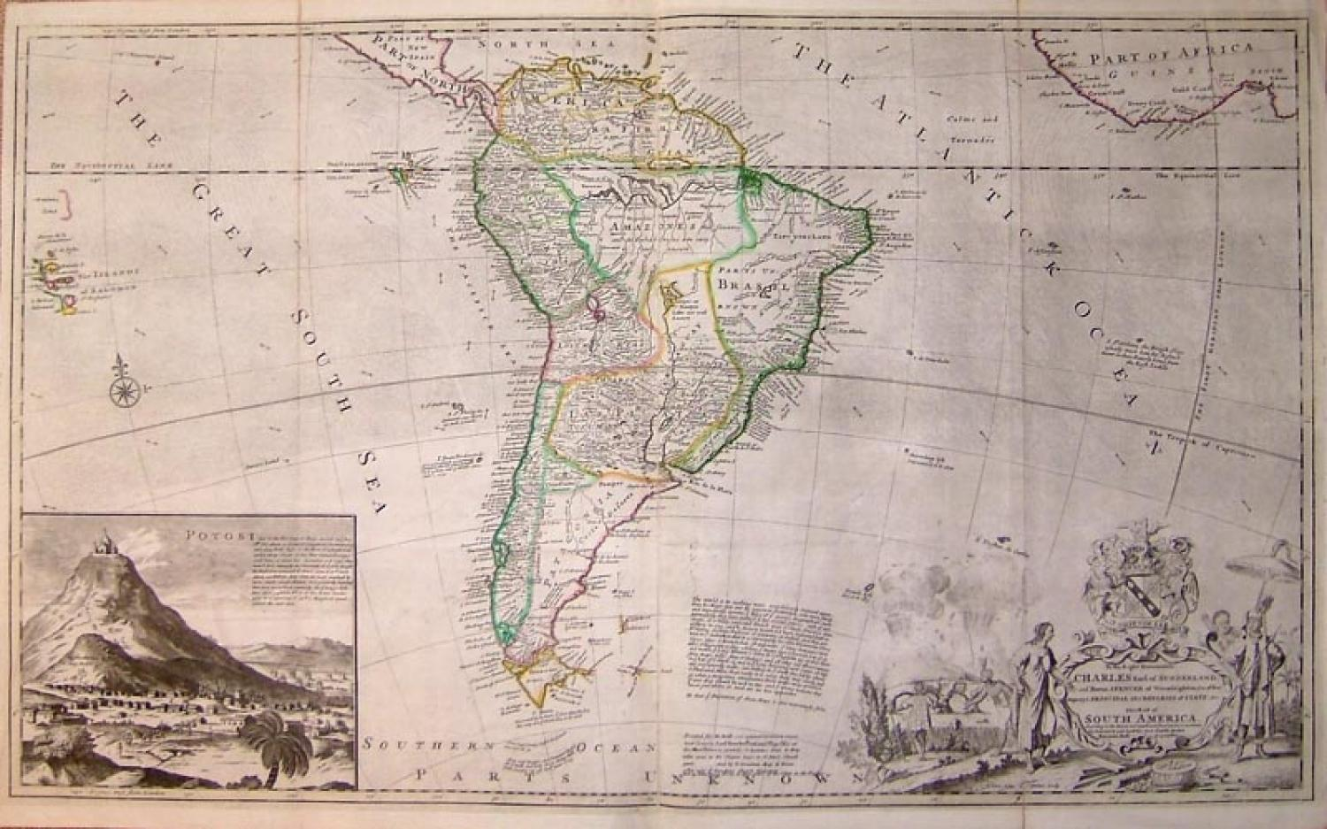 SOLD Map of South America, according to the Newest and most exact observations