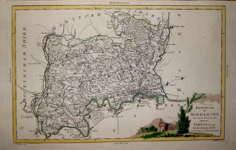 Antonio Zatta - Provincia di Middlesex