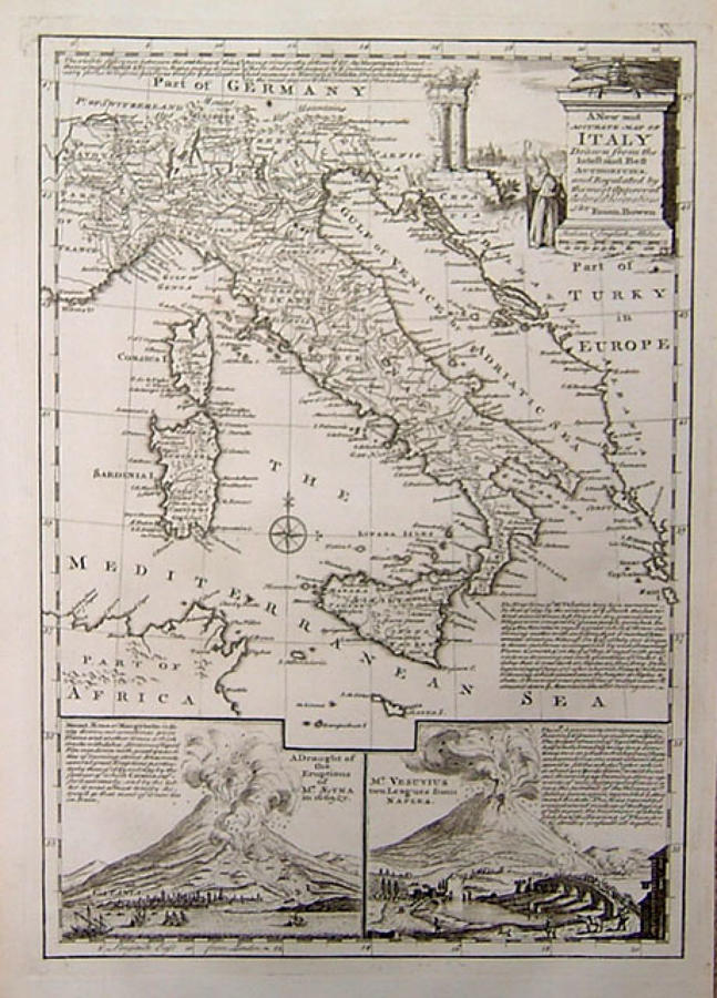 Bowen - A New and Accurate Map of Italy...
