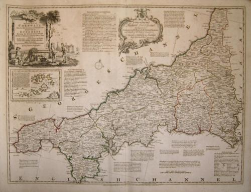 SOLD A New Improved Map Of Cornwall...