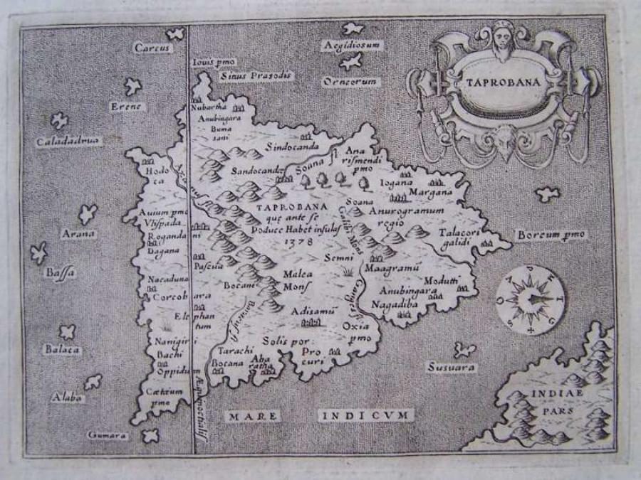 Porcacchi - Descrittione Isola di Taprobana