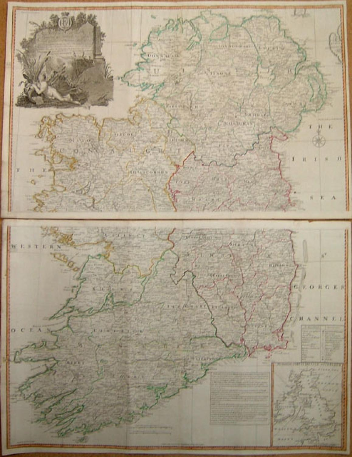 SOLD A map of the Kingdom of Ireland