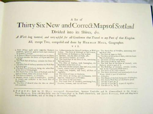 Moll - Atlas of Scotland facsimile
