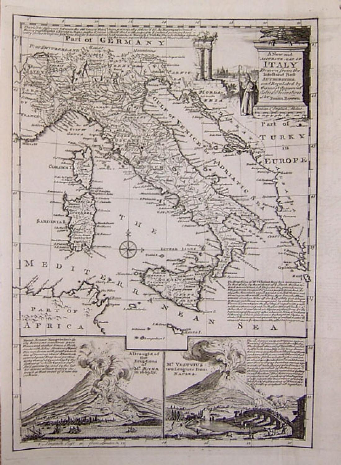 SOLD A New and Accurate Map of Italy...