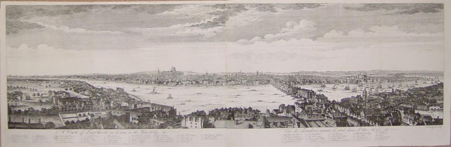 SOLD A View of LONDON as it was in the Year 1647