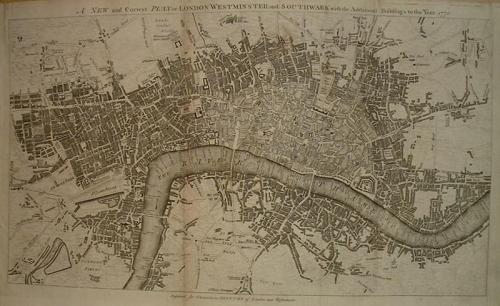 SOLD A New & Correct Plan of London, Westminster