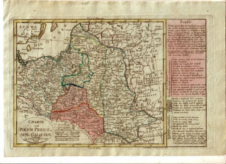 SOLD Charte von Polen Preussen u. Galicien