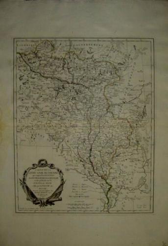 SOLD Carte de la Lithuianie Russienne