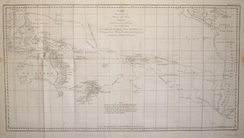SOLD Carte d´une partie de la Mer du Sud