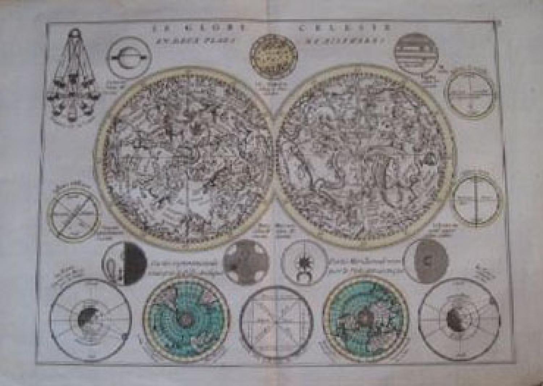 SOLD Le Globe Celeste en Deux Plans-Hemispheres