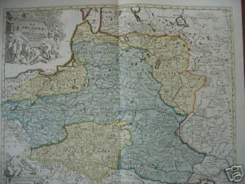 SOLD La Pologne divisee en Royaume de Pologne et les etats...