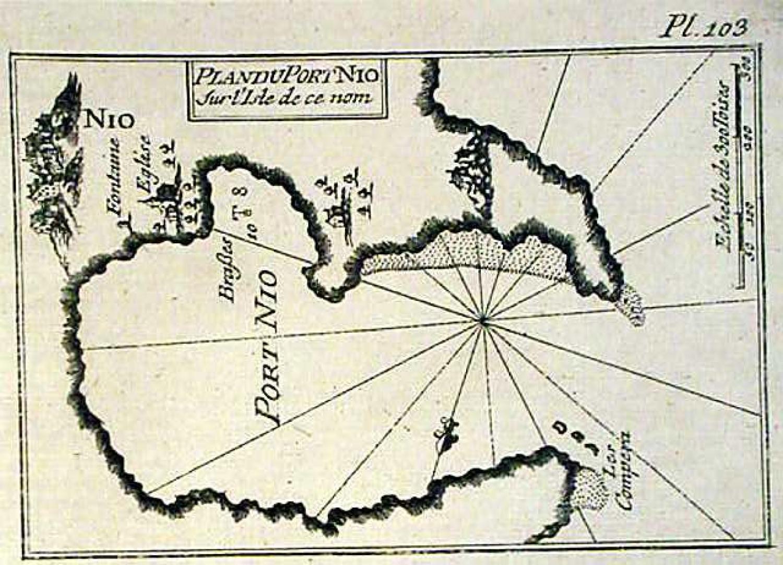 SOLD Plan du Port Nio sur l'isle de ce nom