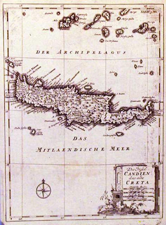 SOLD Die insel Candien das alte Creta