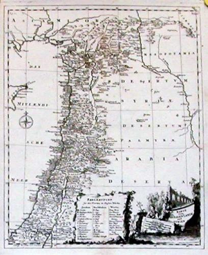 SOLD Karte vom Heiligen Lande und Syrien