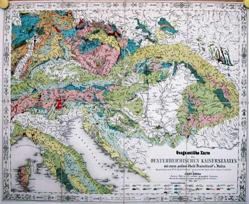 SOLD Geognostische Karte des Oesterreichischen Kaiserstaates