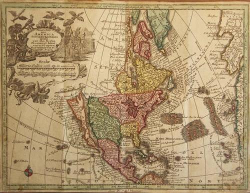SOLD Novus Orbis sive America Septentrionalis divisa per fua Regna Provinc et Insul